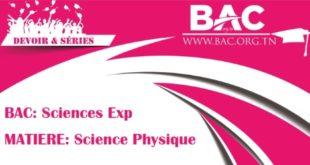 srie avec correction oscillations mcanique forcs bac scientifiques mr zribi sfax - Resume Cours Science Bac Tunisie